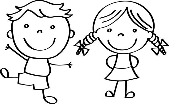 dibujos de niños y niñas animados