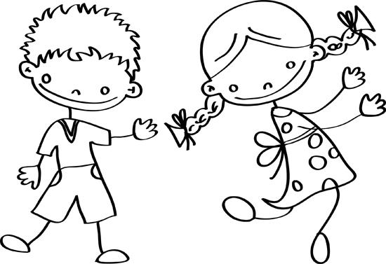 dibujos de niños y niñas