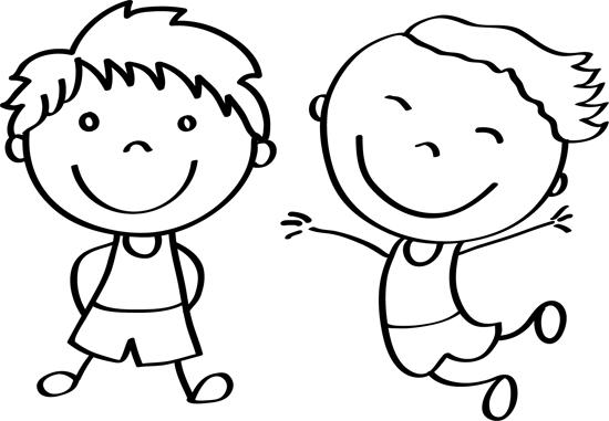 dibujos para colorear de niños