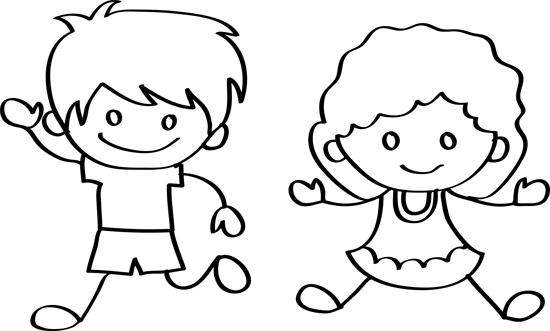 pareja de niños