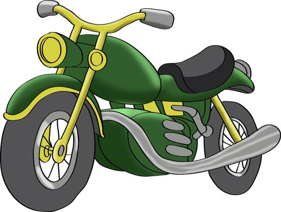 dibujo coloreado de una moto