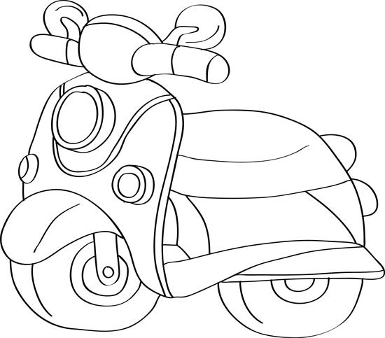 dibujo de moto de caricatura