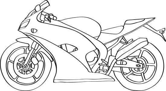 dibujo de moto de carrera