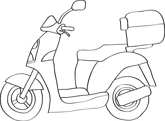 dibujos fáciles de moto