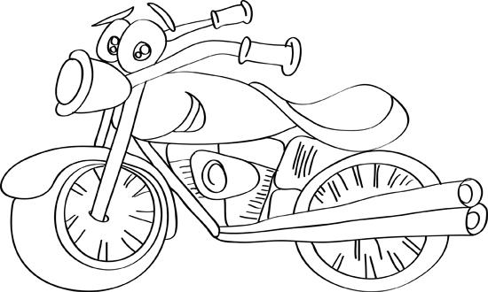 moto de caricatura