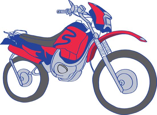 pinta y colorea dibujos de motos