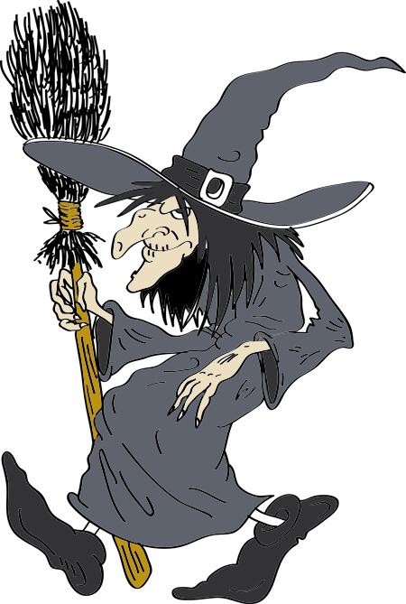 dibujos de brujas listaspara colorear