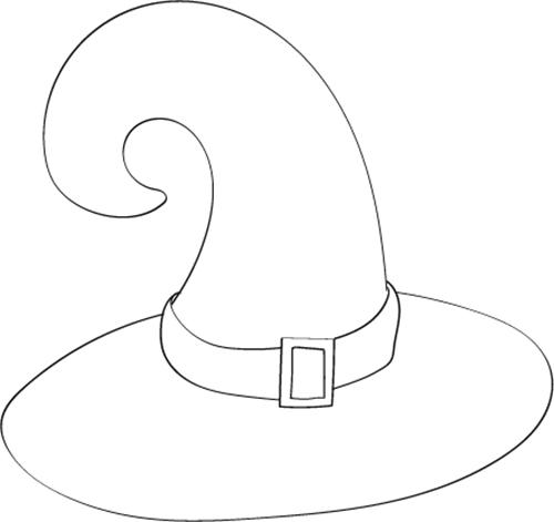 dibujo de sombrero de bruja