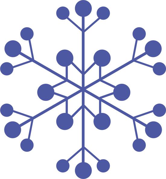 la nieve en copos