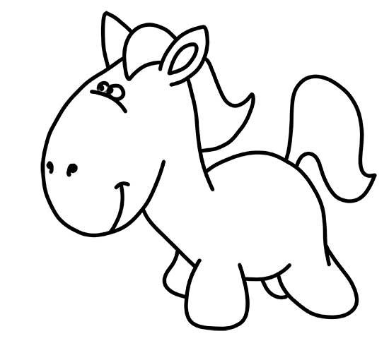 dibujos-faciles-para-niños-caballito